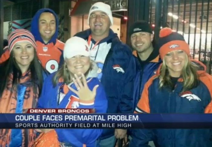 Broncos Fans Torn Between Having Their Wedding and Super Bowl Tickets | Swimmingly http://kdvr.com/2015/09/19/broncos-fans-celebrate-third-broncos-game-milestone-with-babys-birth/