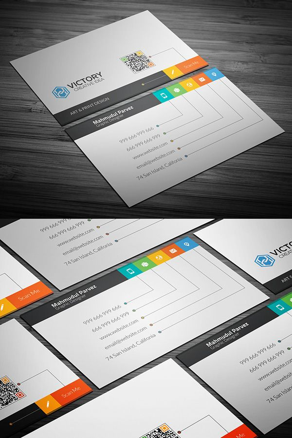 169 best business cards images on pinterest business card design free creative business card psd template accmission Images