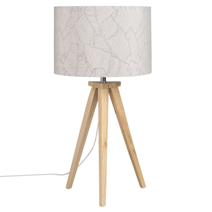 Tripod Lamp with Leaf Print Shade | Maisons du Monde