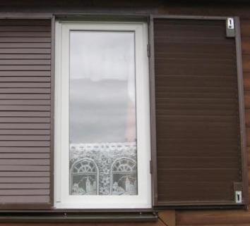 Ставни из металла 2мм для окна окрашенные