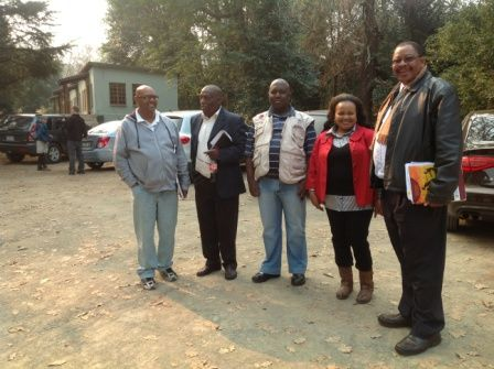 Departments of Waste Management, Arts & Culture, Disaster Planning, UmDM Govt Officials all came together on the #MandelaMarathon Route Tour photo IMG_2619.jpg