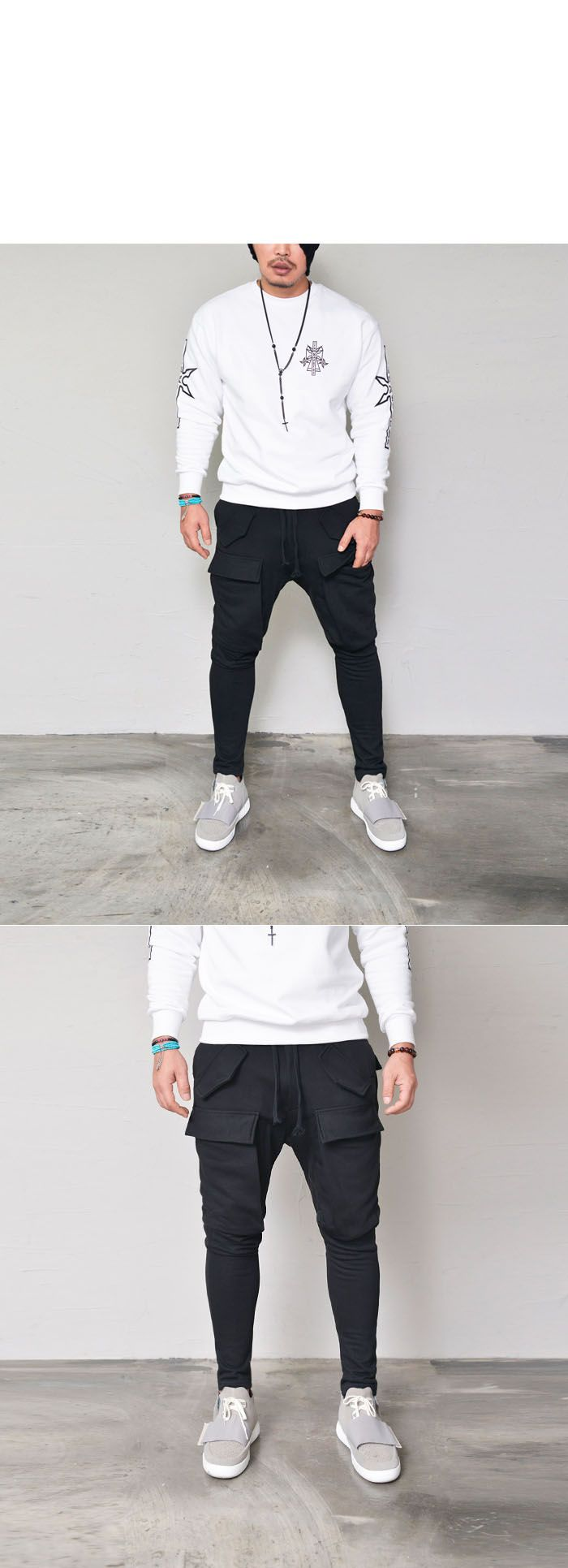 Big Cargo Pocket Baggy-Sweatpants 309 by. Guylook.com  Great quality jersey cotton Flattering baggy cut with fitted legs Oversized big cargo pockets at the front & back