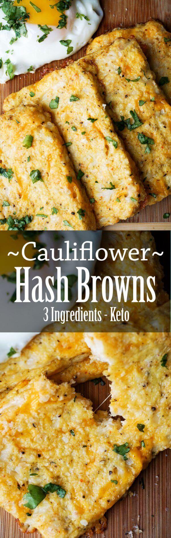 Cauliflower Hash Browns bursting with cheese! Keto breakfast taken to the next level!