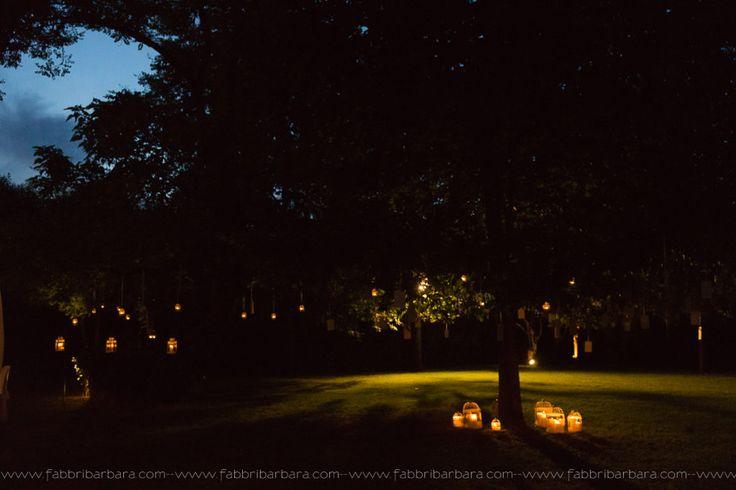 Il parco di Villa Rota illuminato