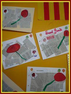 Tapa álbum escolar sant Jordi. Ideas originales para hacer en el aula el día de Sant Jordi