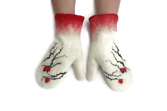 Hey, I found this really awesome Etsy listing at https://www.etsy.com/il-en/listing/200218414/felted-mittens-merino-wool-white-red