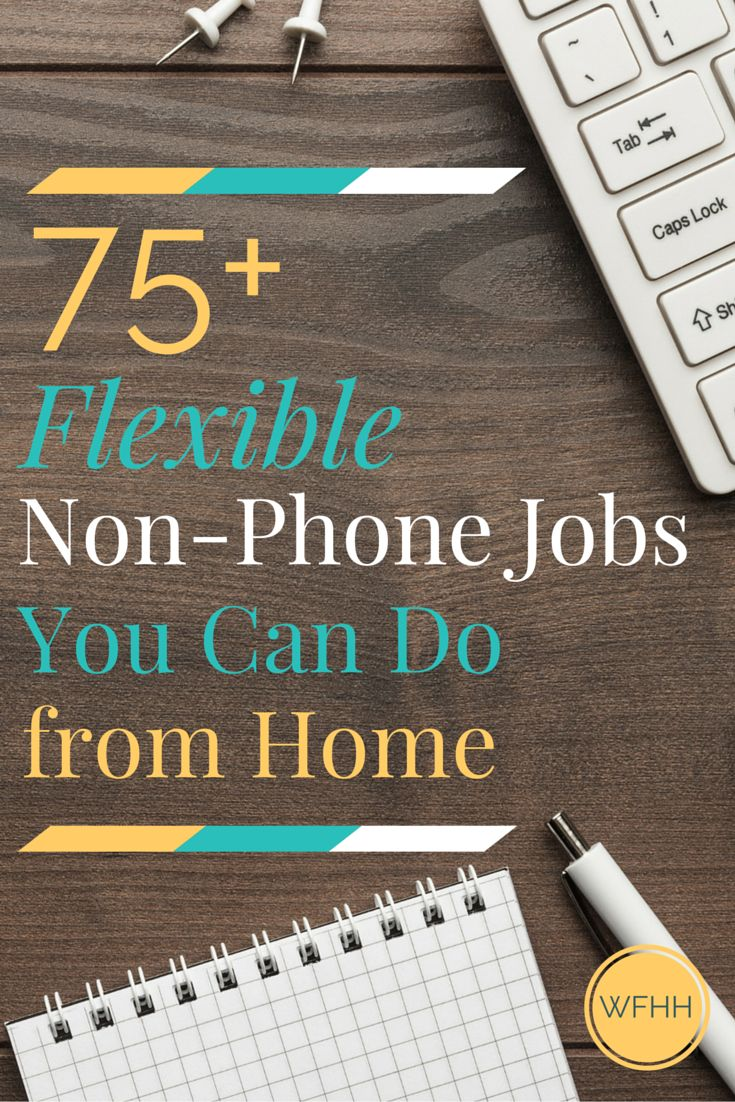 Looking for chat, email, data entry and other flexible non-phone jobs you can do from home? You've found them! Click through to find out…