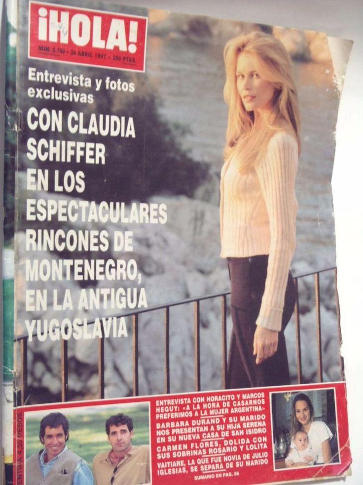 CLAUDIA SCHIFFER ROBERT DUVAL CARMEN FLORES HOLA MAGAZINE SPAIN 1997