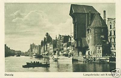 Długie Pobrzeże na starej pocztówce / Long #Seashore on an old #postcard