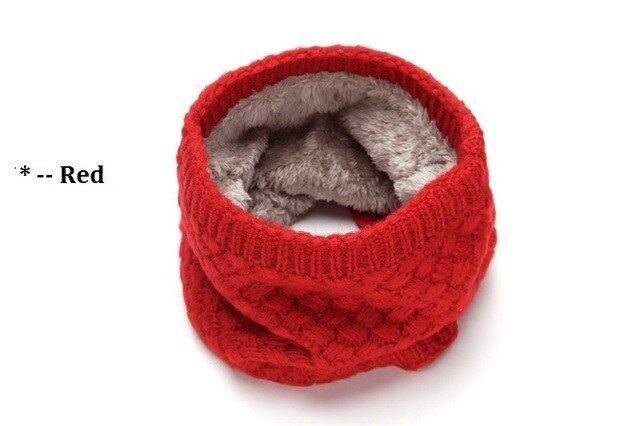 Thermal Woolen Yarn Snood Neck Warmer Scarf Warm Winter Ski For Men Women HD