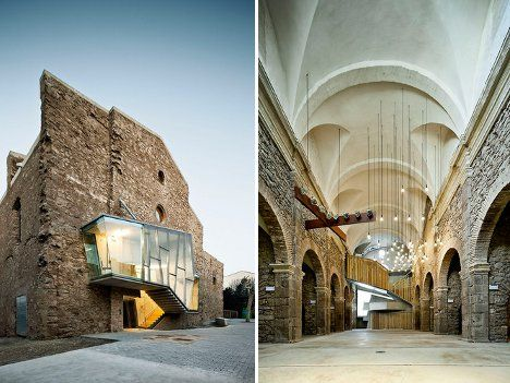 catalonian church restoration  Architects who are asked to restore old or damaged buildings typically decide to bring those buildings back to their former glory. But David Closes decided to take a different path when he was charged with converting the classic Sant Francesc church building into a cultural center and auditorium.