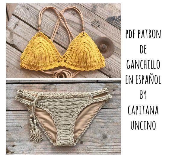 Pdf Patron De Ganchillo Marina Bikini 2 Partes Tallas Xs S M L