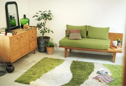 新緑のような、爽やかコンパクトリビング   今月のおすすめ-インテリアショップ[unico]