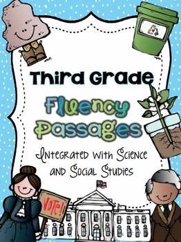 Integrate fluency practice with social studies and science!  Brand new passages just added!  ($)