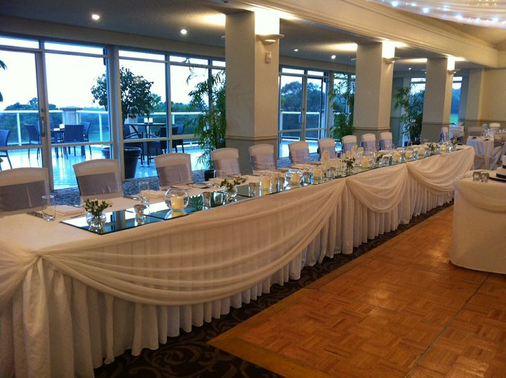 Bridal Table Draped at Monash Country Club