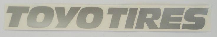 $2.99 Toyo+Tires+Silver+Vinyl+Sticker