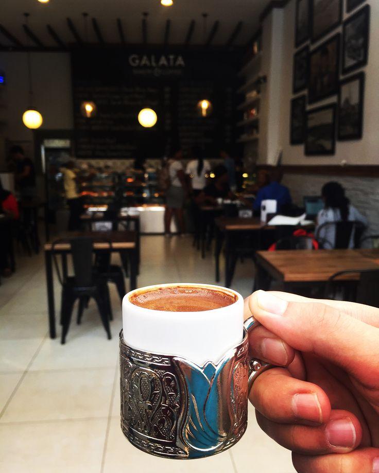 The best Turkish coffee ever.  #galatabakery #braamies #braamfontein #johannesburg #turkishcoffee