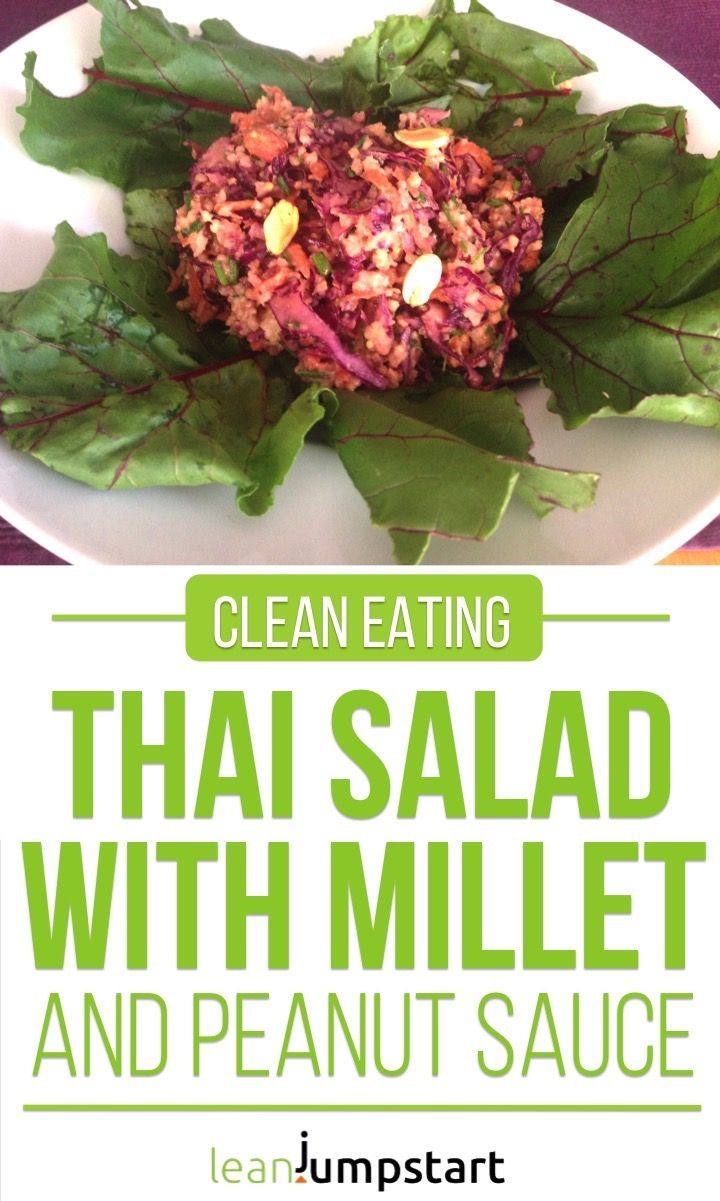 This amazing Thai salad with millet and peanut dressing will blow you away. It's… – Vegan Meals