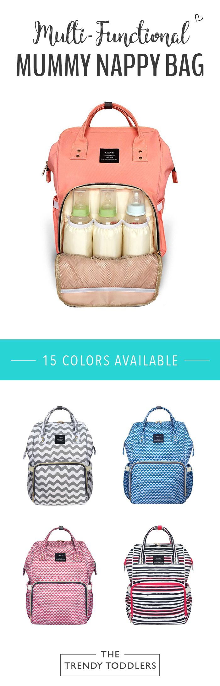 SALE 65% + FREE SHIPPING! SHOP Our Multi-Functional Mummy Nappy Bag