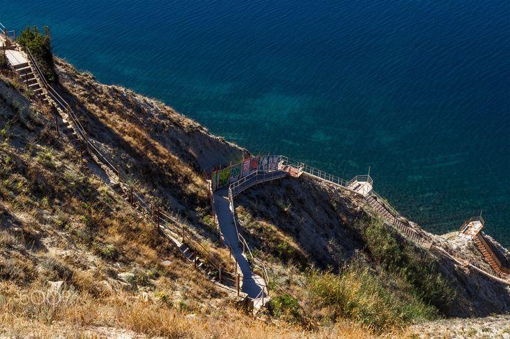 On coast - Coast of the Black Sea. Anapa. Russia