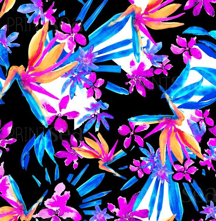 paradise PRINTSEA.NET.jpg swimwear fabric prints for bikini designers