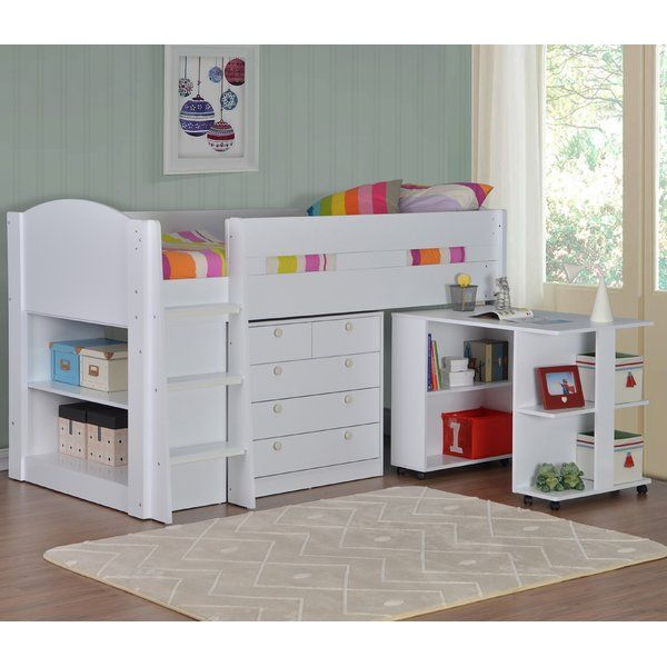 High quality children's mid sleeper set fully reversible, with a modern robust style this will be a great addition to any kid's bedroom, also offering some fantastic storage options.