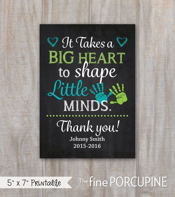 Teacher Gift, End of School Year, Teacher Appreciation, Gift for Teacher, Personalized Teacher Saying, Print yourself, DIGITAL FILE