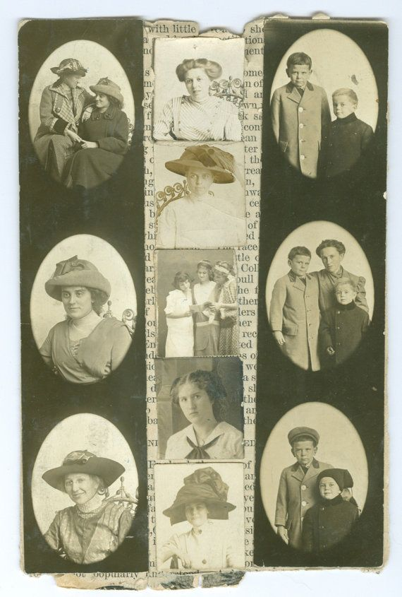 Photo Booth Photos Vintage Photograph by FamilyTreeAntiques, $12.00