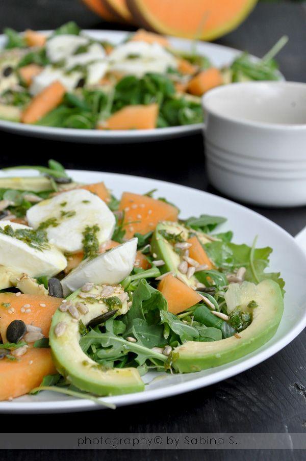 Due bionde in cucina: Insalata con melone e avocado