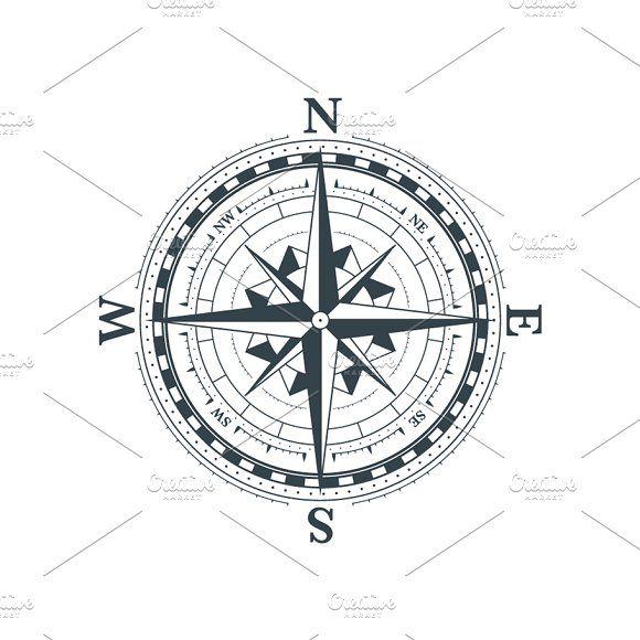 Classic Compass Icon In 2020 Compass Icon Icon Compass Tattoo