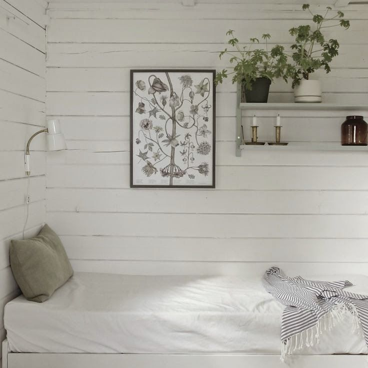 Botanical prints and simple white rooms -perfect (Time of Aquarius)