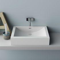 Countertop washbasin / rectangular / Corian® / contemporary