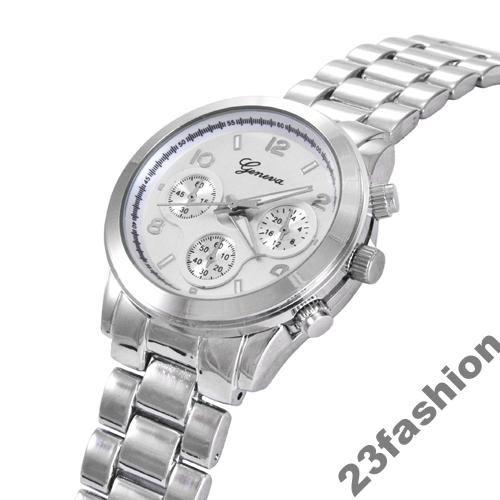 Zegarek damski GENEVA CLASSIC kwarcowy srebrny