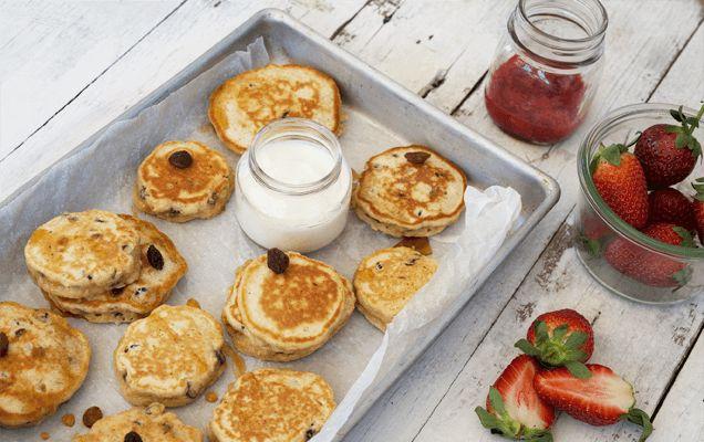 Weet-Bix recipe: Weet-Bix sultana pikelets