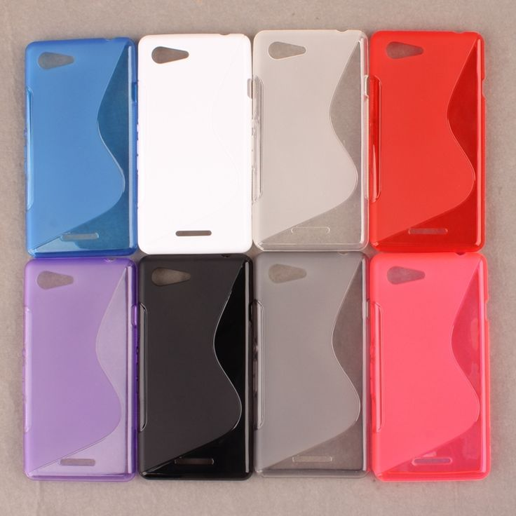 Free Shipping Soft S-Line Wave TPU Gel Cover Case Skin for Sony Xperia E3 / Dual D2203 D2206 D2243 D2202