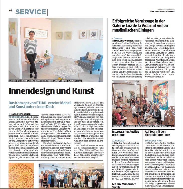 Gran artículo que nos hace la periodista Marlene Wörner para el Diario Sur Aleman. Gracias!!!
