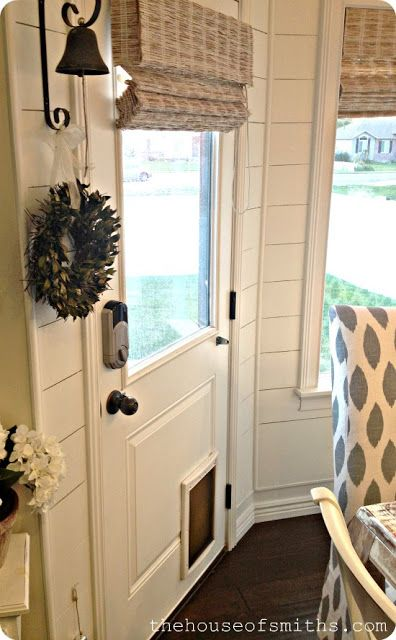 17 best ideas about door window covering on pinterest - Interior door with pet door installed ...
