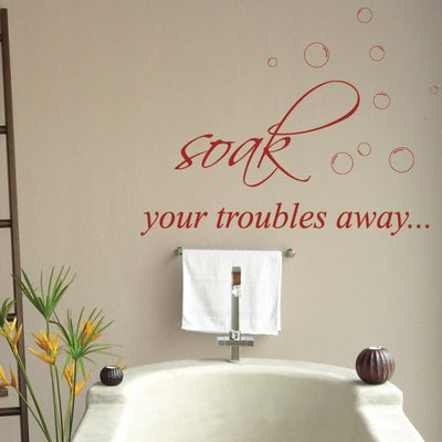 Quotes Lettering Bathroom Wall Stickers Wall Decals   eBay. 1000  images about Bathroom on Pinterest   Bathroom wall art  Wire