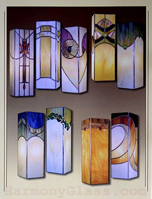 stained glass lanterns | Stained Glass Supplies - books - Box Column Lanterns