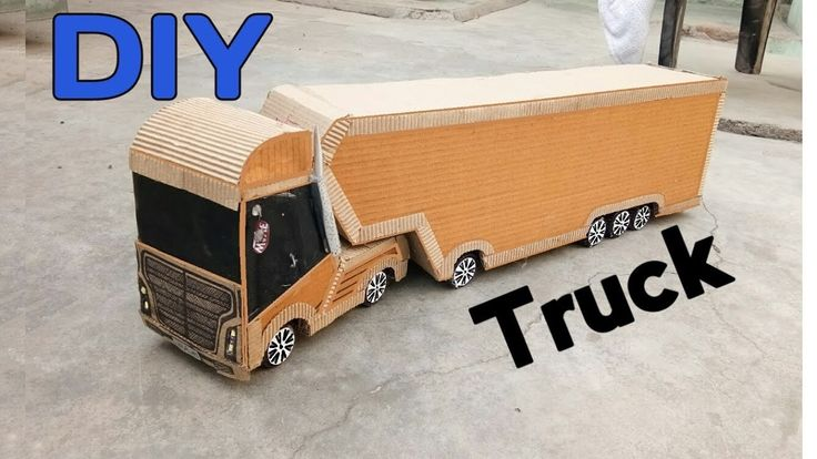 How To Make Powerful Cardboard Container Truck || DIY  Container Truck at home
