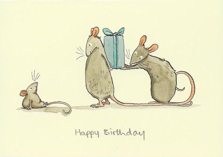 Прикольная картинка мыши к дню рождения