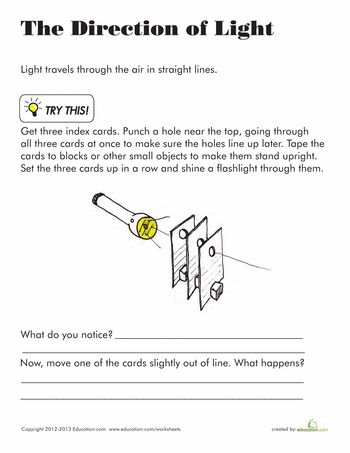 Worksheet Properties Of Light Worksheet 1000 images about first grade science light and sound on worksheets direction of light