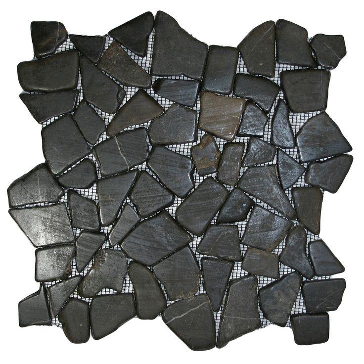 glazed grey mosaic tile