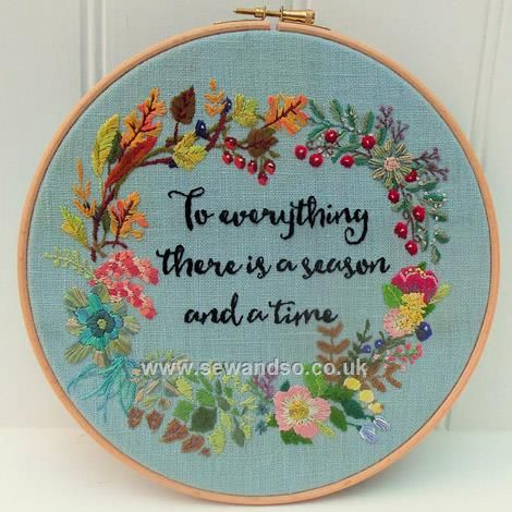 Buy Four Seasons Hoop Embroidery Pattern - DOWNLOAD ONLY Online at www.sewandso.co.uk
