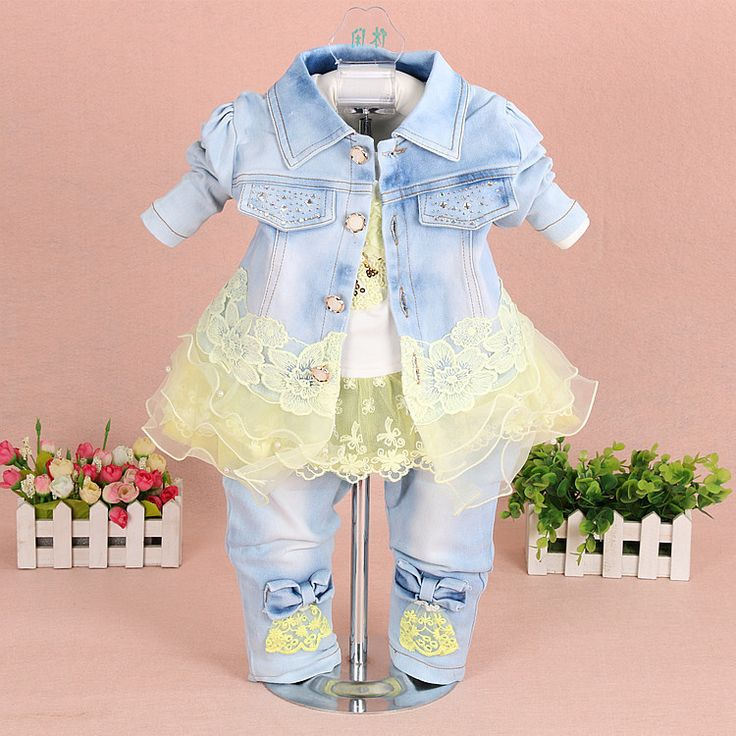 3 Pieces Fashion spring and Autumn Kids Clothing Set