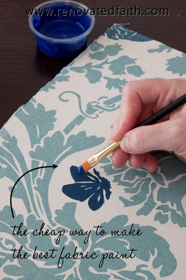 How To Make Acrylic Paint On Fabric Permanent The Best Fabric Paint In 2020 Acrylic Paint On Fabric Best Fabric Paint Fabric Painting