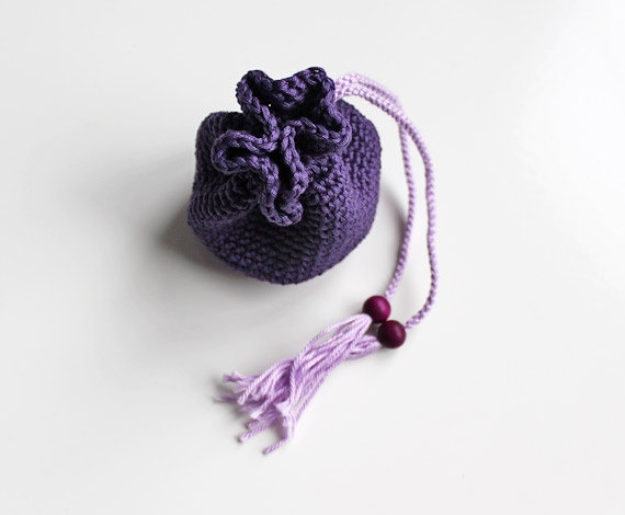 corcheted llttle pouch  money pouch  lilac von BelleAccessoires, €9,00