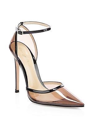 343541600d0 Gianvito Rossi Clear Point-Toe Ankle-Strap Pumps  945 Shoe Wardrobe