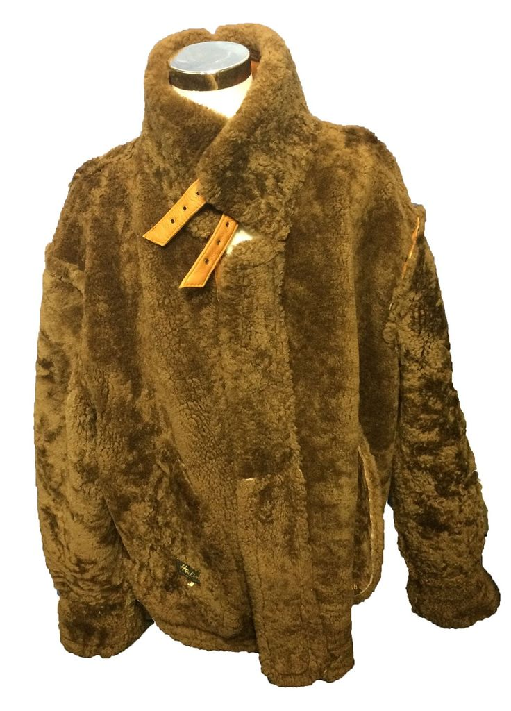 B-3 BOMBER BROWN SHEARLING LEATHER FLIGHT JACKET MEN'S SIZE 4 XL $299.99 # Leather