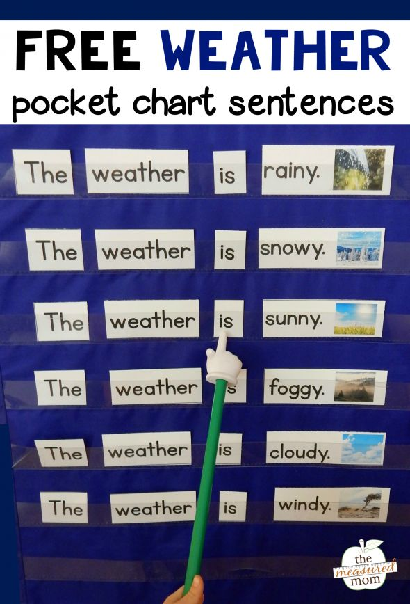 free weather activity for young learners pocket chart activities weather kindergarten. Black Bedroom Furniture Sets. Home Design Ideas